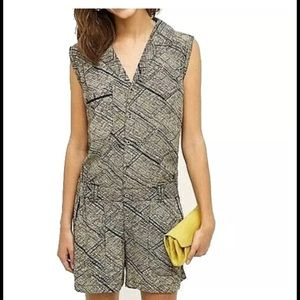 Anthropologie Hei  Hei sleeveless print romper